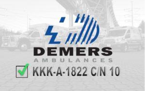 Demers Ambulances Certified KKK-A-1822 C/N 10